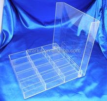 clear acrylic compartments storage box with 15 grids for wholesale pandora beads