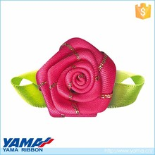 New arrival hand craft work organza ribbon decoration flowers for clothes