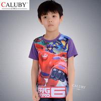 2015 Latest Fashion Cartoon Fashion Cheap Wholesale Tshirt For Baby boys