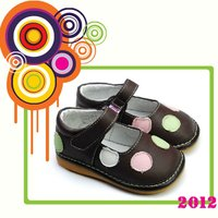 Foreign environmental cow leather children shoes PB-6060BR