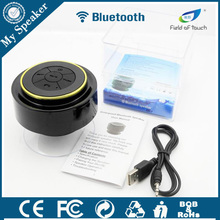 F012 black/gold strong suction cup shower speaker in the bathroom
