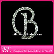 Top Grade Austrian Crystal Letter Brooch