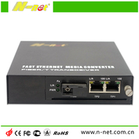 10/100M Fast Ethernet Manageable Media Converter with 1 fiber port+ 2 RJ45 ports