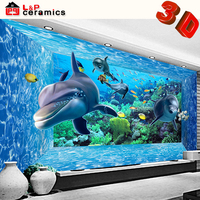 2015 hot sale made in China good quality porcelain dolphin tile