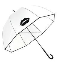 Ailbaba marke honsen Clear plastic disposable pvc vinyl umbrella