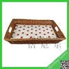 New style square wicker shallow tray basket /tray storage basket/storage trays