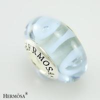 Hermosa Jewelry Murano Glass Bead Hole Special Figure Girls RURIY 925 Stamp Bead