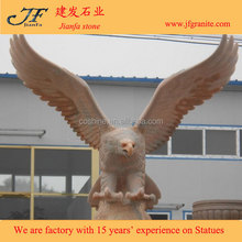 Life-size Multicolored Red Stone Eagle Marble Statues