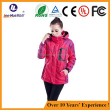Outdoor Wholesale High quality Battery Powered Woman Waterproof Slim Rechargeable Electric Heating Jacket hunting ski jacket