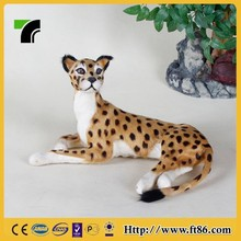 Child craft toys table decoration aninmal model art craft leopard