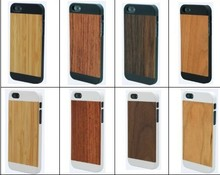PC Material With Bamboo For Iphone 5 s Case