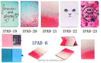 Popular Painted Pattern Design Flip PU Leather Card Holder Stand Case Cover For Apple iPad air 2/ipad 6