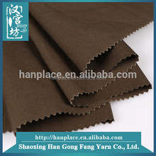 Fabric supplier Fashion Super brown T/C Yarn Dyed woven shirt fabric