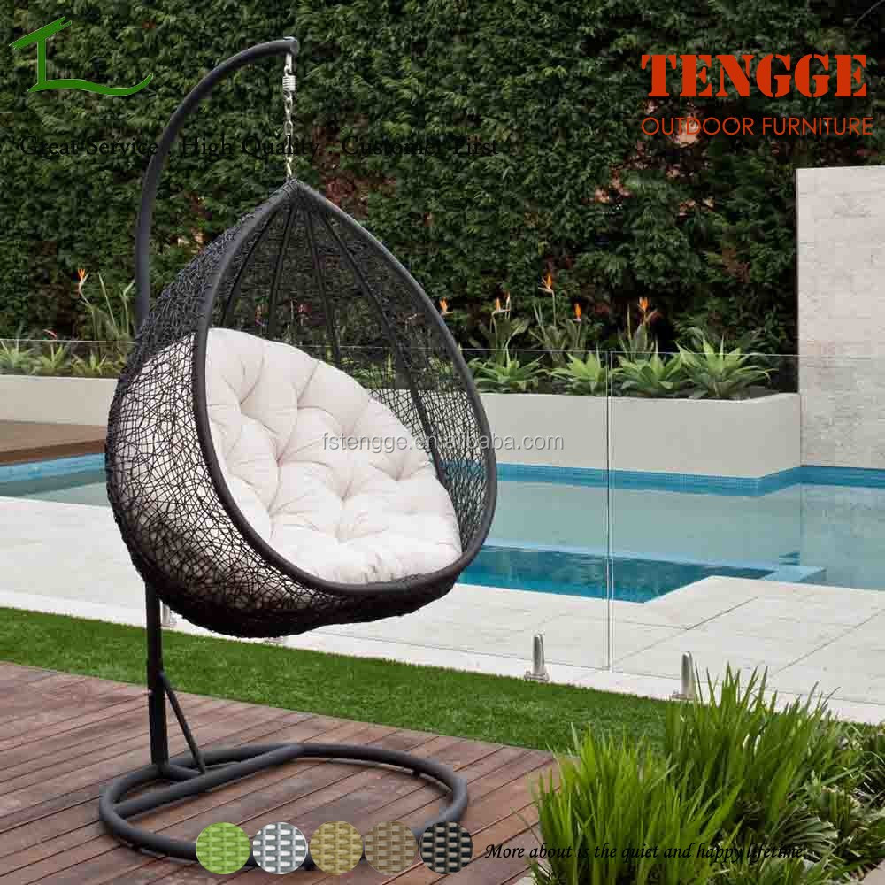 Hanging Egg Chair Outdoor Rattan Wicker Swing White View Rattan Hanging Egg Chair Tengge