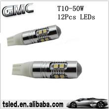 aluminum alloy cree t10 50w led auto led light led bulb