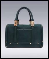 blue simple and tide barrel lady handbag