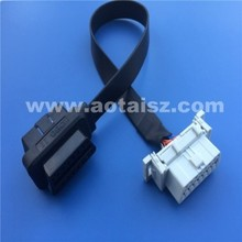 16pin ribbon male to female obd2 cable for diagnostic