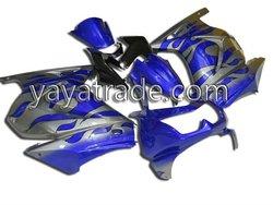 For Kawasaki fairing ninja ZX250 08-10 fairing kit/body kit/body fairing blue/silver