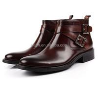 Italian shoe brands genuine leather men boot