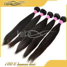 Nice looking pieces for wholesale soft silk feeling Virgin straight human hair wavy