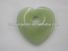 natural de jade nueva en forma de corazón colgante semi preciouse piedras preciosas