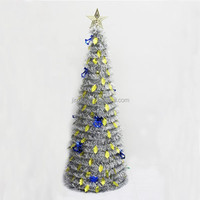 PET/PVC Hot-selling christmas tree with snow effect red feather christmas tree led lighted walmart christmas tree