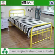 new kids yellow color bed metal single bed frame