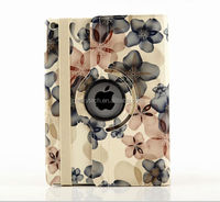 Flower Design Series 360 Rotating PU Leather Case For Apple iPad 6