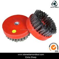 Round Abrasive Brush Diamond Dupont Nylon Silicon-Carbide Tools for Marble/Granite/Concrete