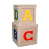 Factory directly sale wooden storage boxes with letters, natural wood box fruit crate wooden vegetable crates