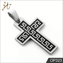 Great Wall Pattern Black Cross Pendants