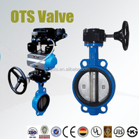 universal flange Cast iron body DI disc wafer butterfly valve