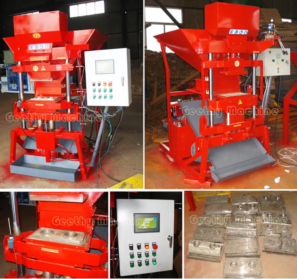 Nouveau type imbrûlé argile machine de brique sol machine de brique premium eco 2700 presse hydraulique