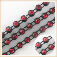 shiny crystal bead strip for decoration