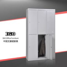 IGO-025 Multi 6 doors locker ckd z shape gym clothes cabinet steel gym locker