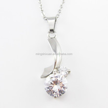 OEM projects wholesale 316 stainless steel diamond necklace pendant