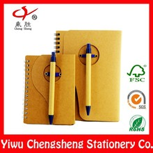 promotional mini eco friendly notebook with pen