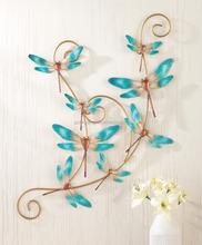 Colgantes de Metal libélula arte de la pared decoración