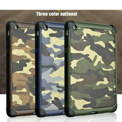 For ipad mini 2/mini 3 (Smart Cover) Smart case with stand for Apple iPad mini 3 Camouflage leather case
