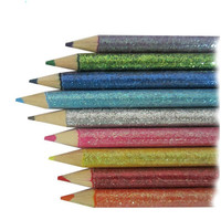 hot selling hb pencil , wooden glitter color pencil