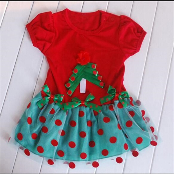 Wholesale beautiful fortable fancy christmas baby dress