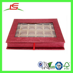 Q1267 China Wholesale Colorful Rectangular Wedding Box For Candy With PVC Window