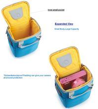 New Design Waterproof Camera Bag Trendy Blue Color Digital Camera Bag For DSLR SLR Camera