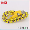 Cheap Price Braided Fabric High Quality China Supplier USB Portable Cable