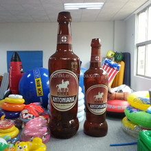 48 inch inflatable beer bottle with paper insert for advertising