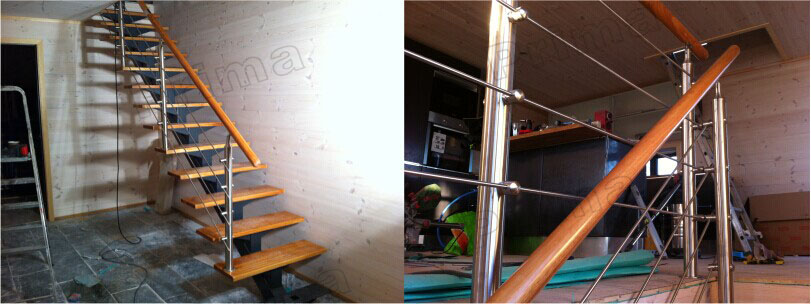 top mounted aluminum base channel tempered glass balustrade with