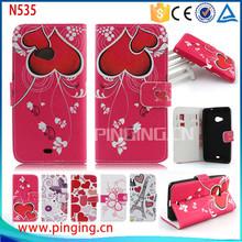 for nokia lumia 535 case, leather back cover case for nokia lumia 535