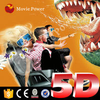 Seat move according to film story 5d entertainment theater