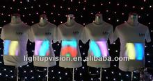 High Brightness Flashing El Sound Sensitive T-shirt For Party / Pub