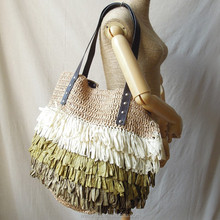 2015 New Foreign Trade Export Fashion Personality Hawaii Shoulder Straw Handbag